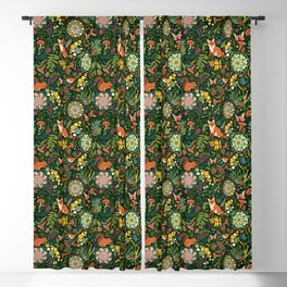 Treasures of the emerald woods Blackout Curtain