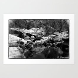 Children Playing in a Pool Art Print