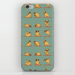 Pug Yoga iPhone Skin