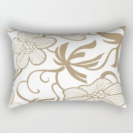 Paris 1927 - Retro Vintage Botanical Rectangular Pillow