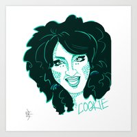 cookie Art Prints featuring Cookie by The Elfin Artist