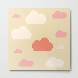 Cloud pink Metal Print