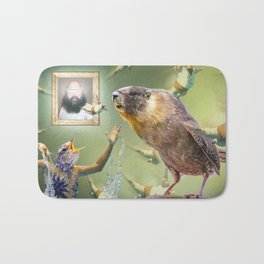 Illegal Bird Meeting Bath Mat