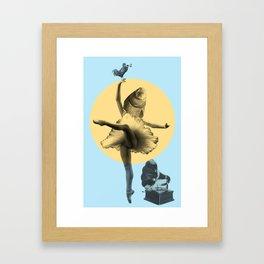 Ballerina Fish Framed Art Print
