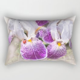 Gladiolus and ladybug Rectangular Pillow