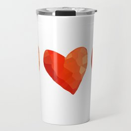 A Single Red Heart Travel Mug