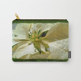 Pale Yellow Poinsettia 1 Merry Christmas P1F5 Carry-All Pouch