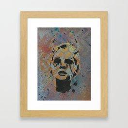 Devil Lady Framed Art Print