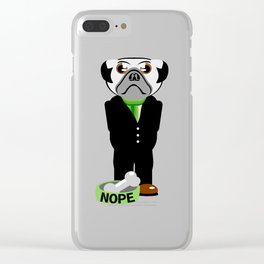 Pug Nope Clear iPhone Case