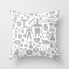 Medical background Throw Pillow