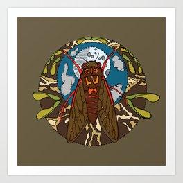 cicadas, moons, and box elder seeds, oh my... Art Print