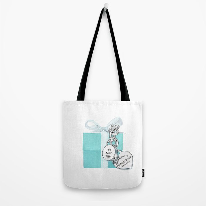 Blue Jewelry Box Tote Bag