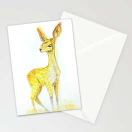 Gambade la biche carnivore Stationery Cards