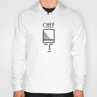 chef Hoodies featuring Chef by HebeTees