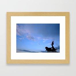 Sky chariot Framed Art Print