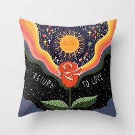 Return to love Throw Pillow