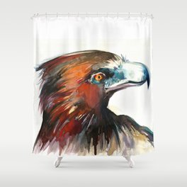 Eagle Head Detail - Watercolor Painting Shower Curtain