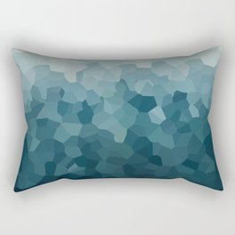 Ice Blue Mountains Moon Love Rectangular Pillow