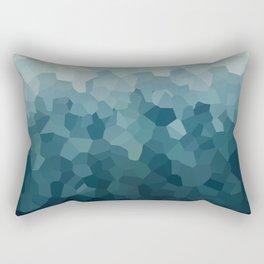 Ice Blue Mountains Moon Love Rectangular Pillow