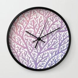 Fan Coral – Rose Quartz & Serenity Wall Clock