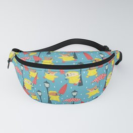Dogs in Raincoats Singin' in the Rain Fanny Pack