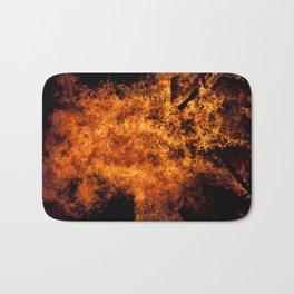 Burning Fire Bath Mat