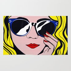 Pop Art Glamour Girl Rug