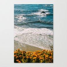 Flowers meet the Sea Canvas Print