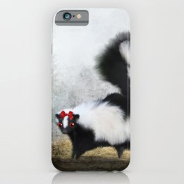 Ms. Skunk on her Own iPhone Case