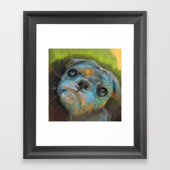 Marina's Little Bean  Framed Art Print