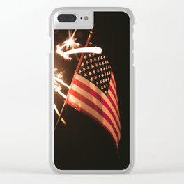 Happy America Clear iPhone Case