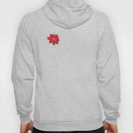 Poinsettia Christmas Flower Hoody