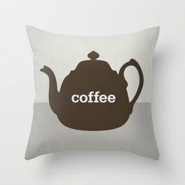Coffee/Tea Throw Pillow