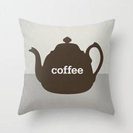 Coffee/Tea Throw Pillow