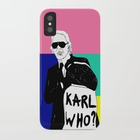 karl iPhone & iPod Cases featuring KARL WHO by TEN-iD