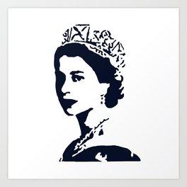 Young Queen in Blue Art Print