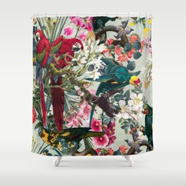 FLORAL AND BIRDS XXII Shower Curtain