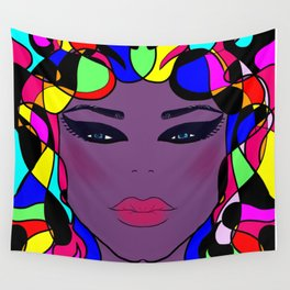 Pretty faces illustration Wall Tapestry