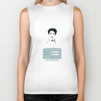 allison argent Biker Tanks featuring His username is Allison?  by Amy Mancini