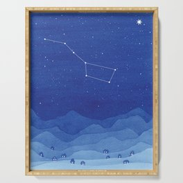 Big Dipper Constellation, mountains Serving Tray