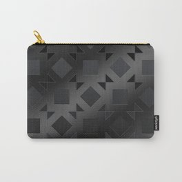 Pattern of squares and diamonds in black gradient Carry-All Pouch