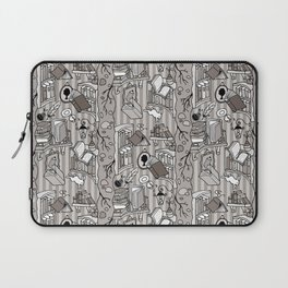 Books: Through the rabbit hole_Warm Gray Laptop Sleeve