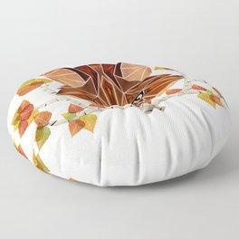 fox autumn Floor Pillow