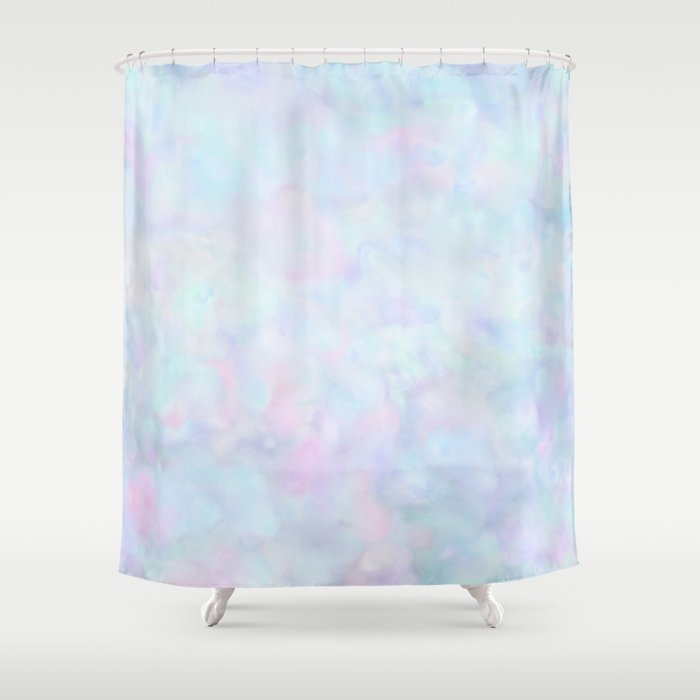 Rainbow Unicorn Pastel Fluffiness Shower Curtain