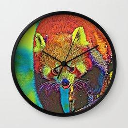 AnimalColor_RedPanda_002_by_JAMColors Wall Clock