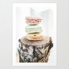 Macarons from Paris Art Print