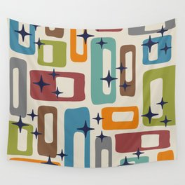 Retro Mid Century Modern Abstract Pattern 224 Wall Tapestry