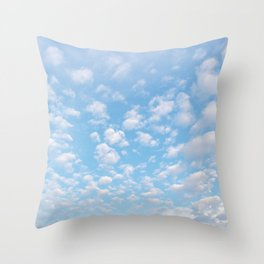The bright blue sky in my backyard Throw Pillow