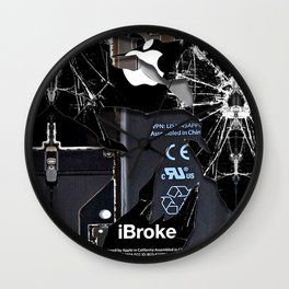Broken Damaged Cracked out handphone iPhone Wall Clock