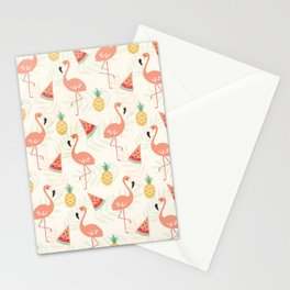 Watermelon Flamingo Pineapple Stationery Cards